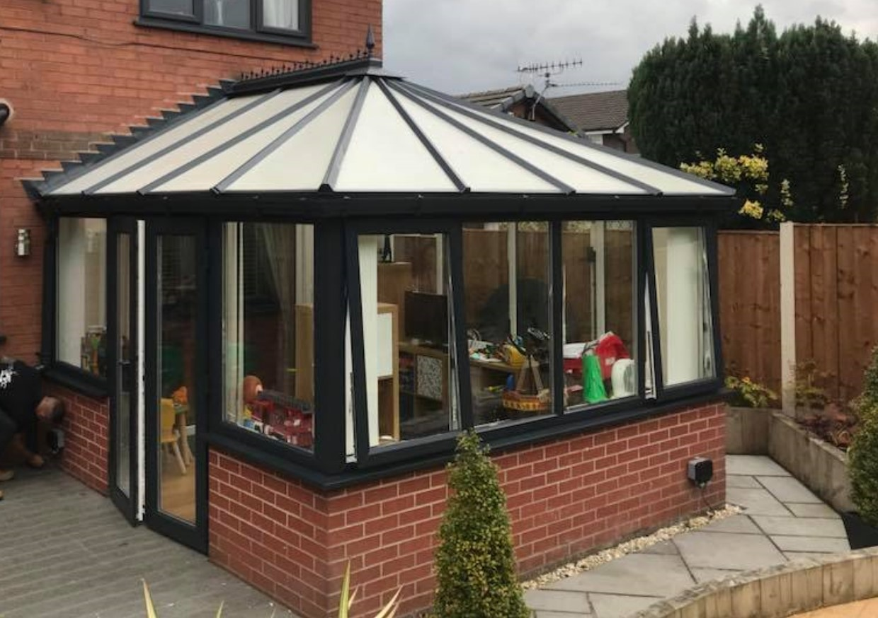 An image of a conservatory that Spray UPVC have resprayed to provide quality and value