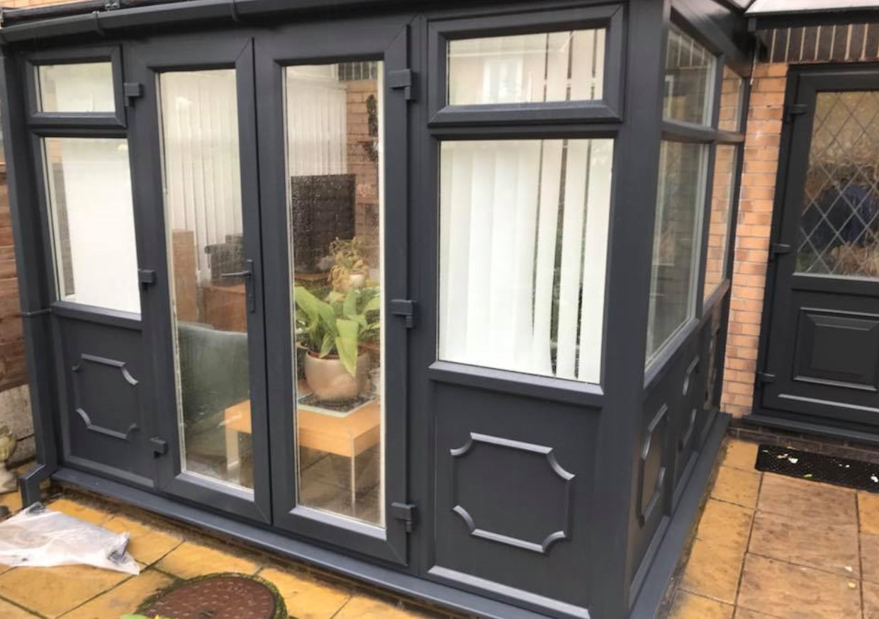 A conservatory that was once tired has been completely transformed with UPVC respraying