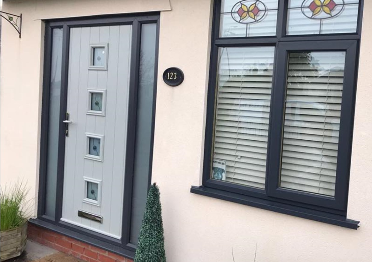 An image of a door that Spray UPVC have resprayed to provide quality and value