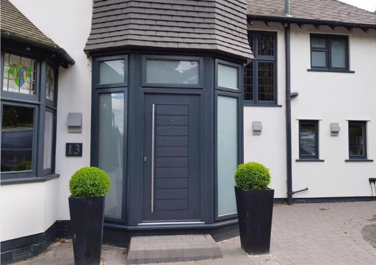 An image of a door that Spray UPVC have completely transformed with their UPVC respraying process