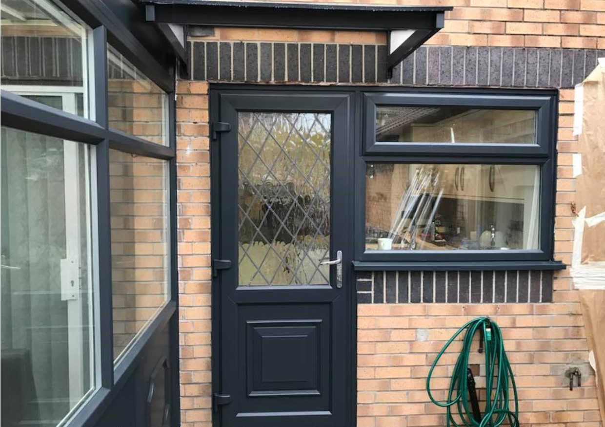 A picture of a back door that we have completely transformed giving you quality and value