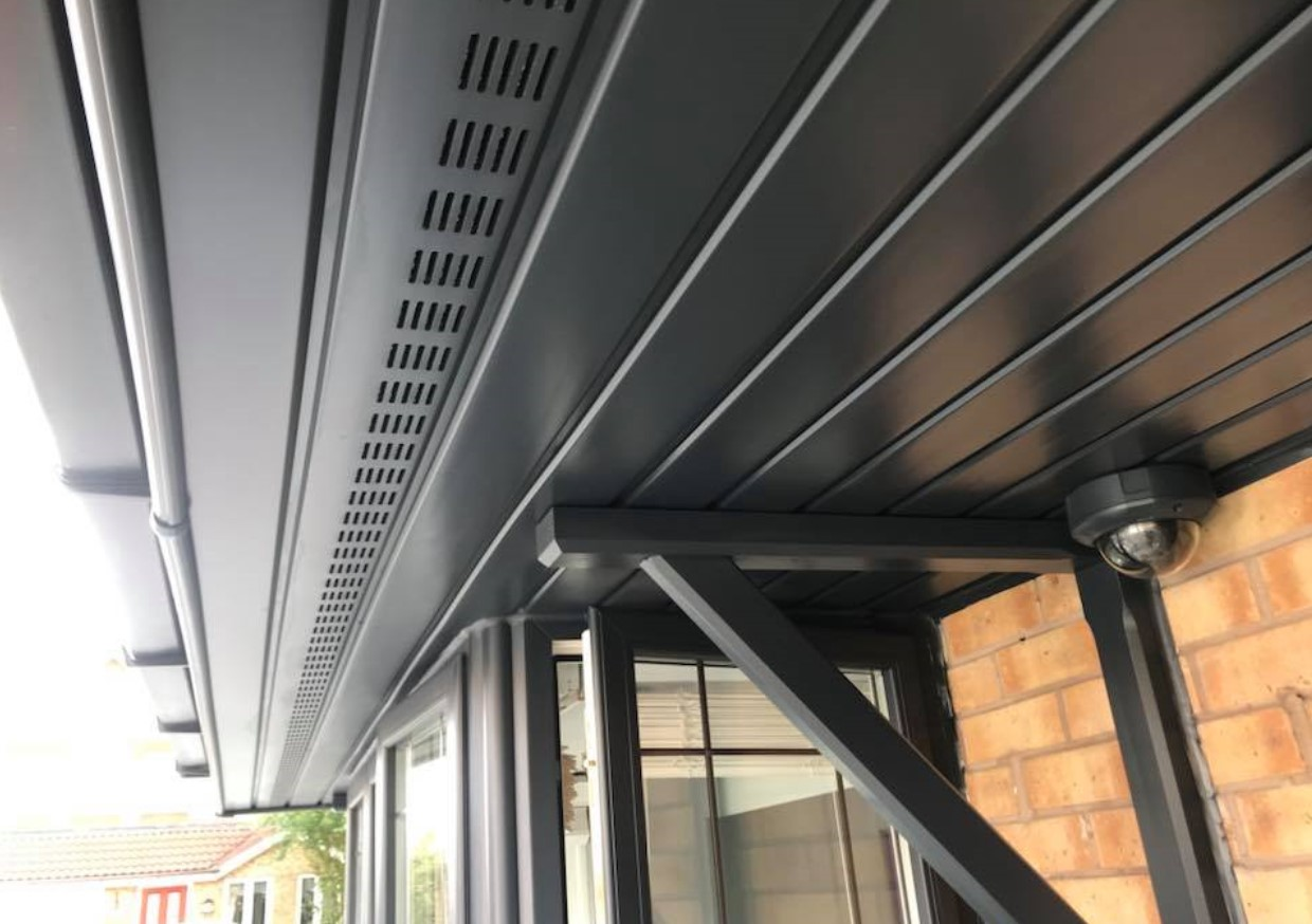 An image of a fascia that Spray UPVC have completely transformed with their UPVC respraying process