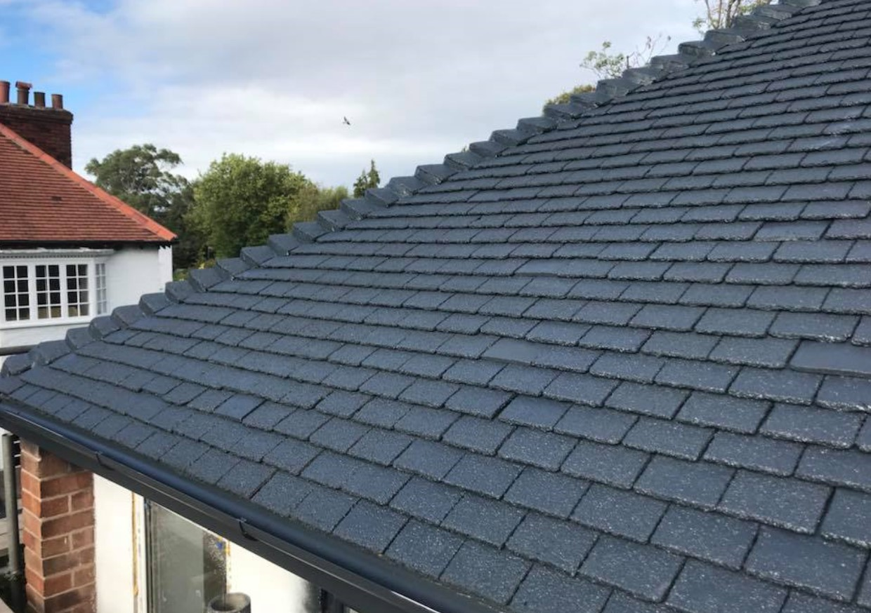 An illustration of a roof that Spray UPVC have resprayed to provide quality and value