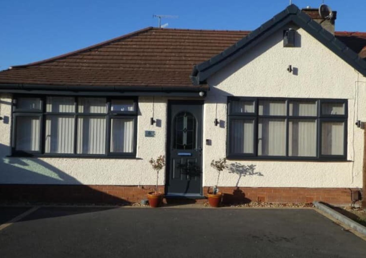 Exterior of a house that Spray UPVC has completely transformed