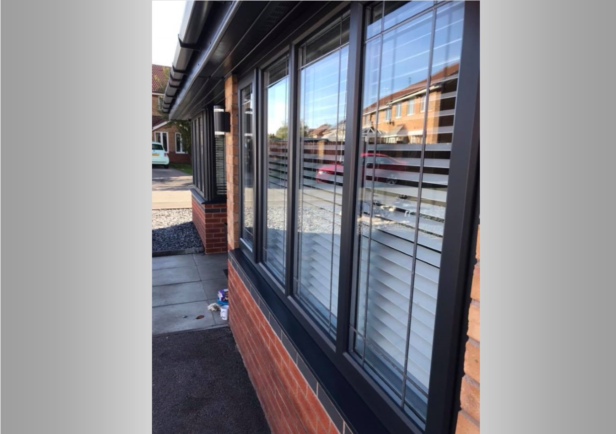Windows that were once tired that have been completely transformed with UPVC respraying